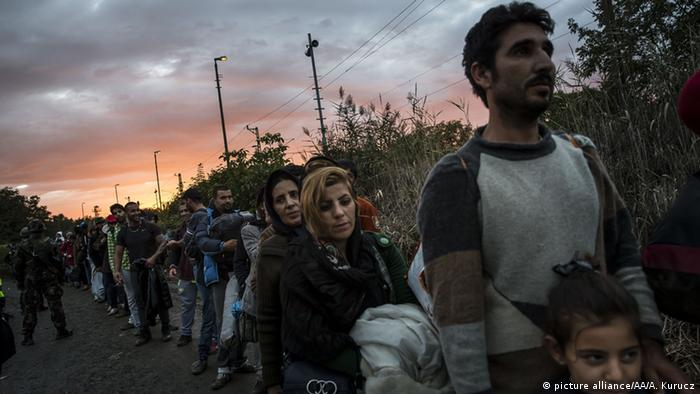 Flüchtlinge Grenze Ungarn
