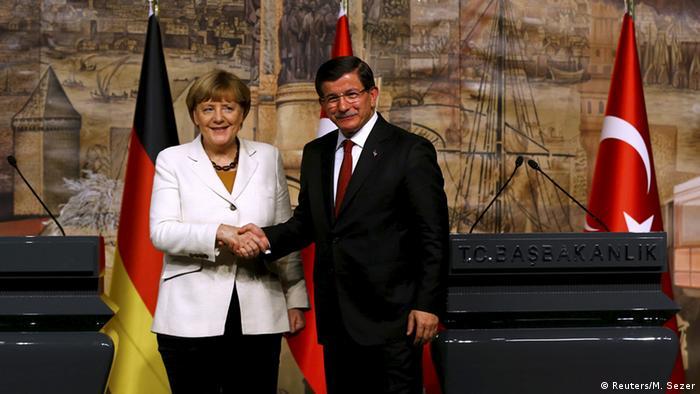 Pressekonferenz Merkel Davutoglu
