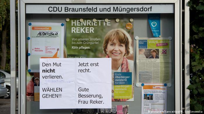 Köln nach der Messerattacke auf Henriette Reker