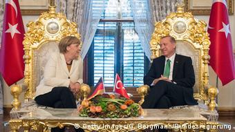 Besuch von Bundeskanzlerin Angela Merkel beim türkischen Präsidenten Recep Tayyip Erdogan (foto: Getty Images)