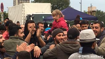 Willkommensfest für Flüchtlinge in Dresden