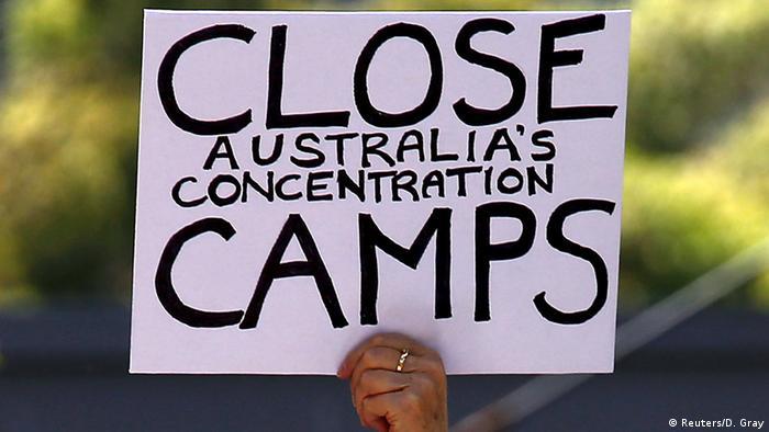 Australien Unterstützer der Flüchtlinge demonstrieren in Sydney