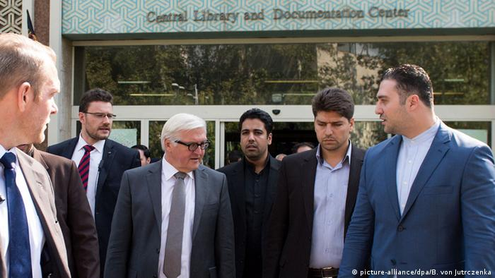 Bundesaußenminister Frank-Walter Steinmeier in Teheran