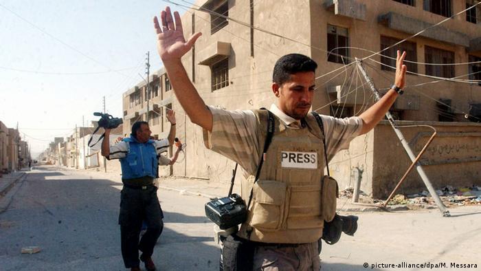 Irak Pressefreiheit Symbolbild (picture-alliance/dpa/M. Messara)