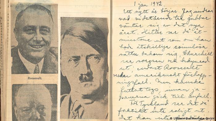 Astrid Lindgren Tagebuch mit Hitler Bild