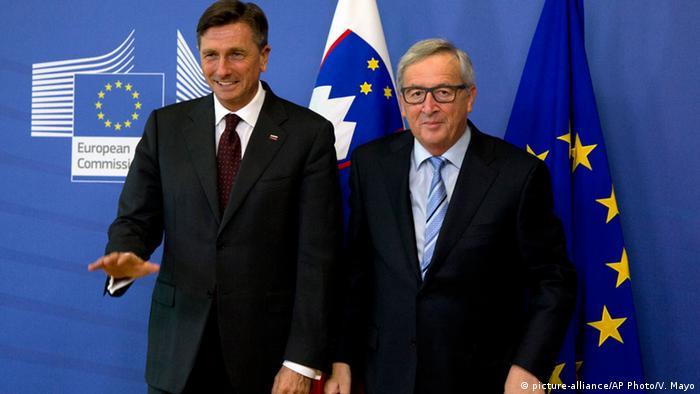 Slovenian Preisdent Borut Pahor with Jean-Claude Juncker, President of the European Commission