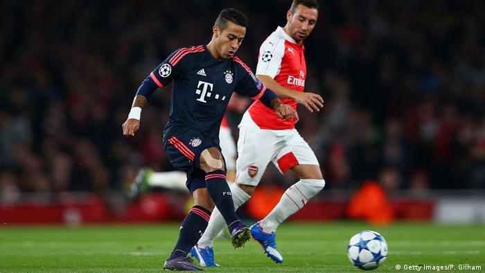 En el más reciente partido del Bayern en la Champions League, contra Arsenal, Thiago fue la figura de la cancha.