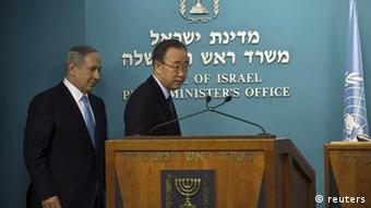 Israel: Premier Benjamin Netanjahu empfängt UN-Generalsekretär Ban Ki Moon