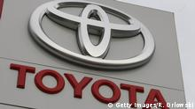 ILLUSTRATION+++ WIESBADEN, HESSEN - DECEMBER 22: A huge Toyota logo stands at a car dealership on December 22, 2008 in Wiesbaden, Germany. Today Japanese carmaker Toyota Motor Corp., the world's second largest car manufacturer announed a 91 percent lowered net income forecast. (Photo by Ralph Orlowski/Getty Images)