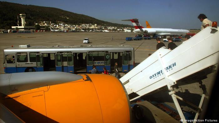 Airport on Greek island of Rhodes