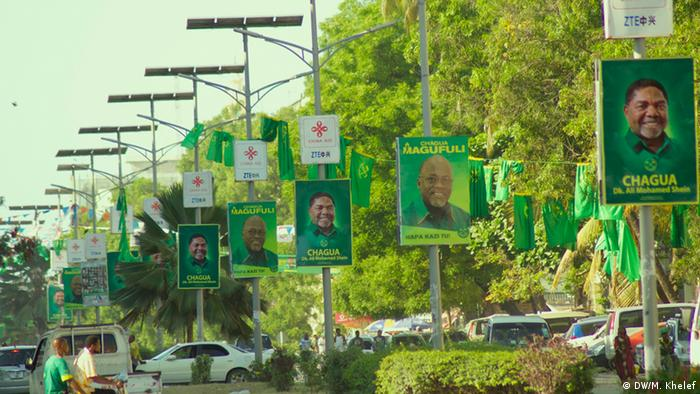 CCM election placards in Zanzibar