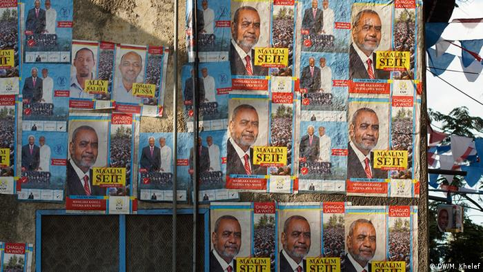 CUF election placards in Zanzibar