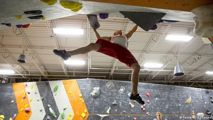 USA Drew Ruana Symbolbild zum Klettern als olympische Disziplin