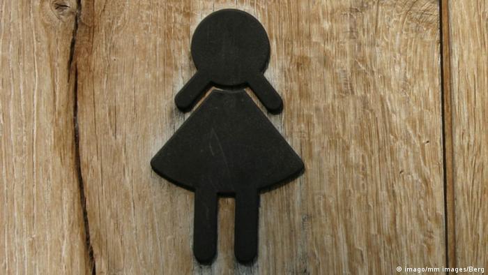 Symbolbild Frau WC