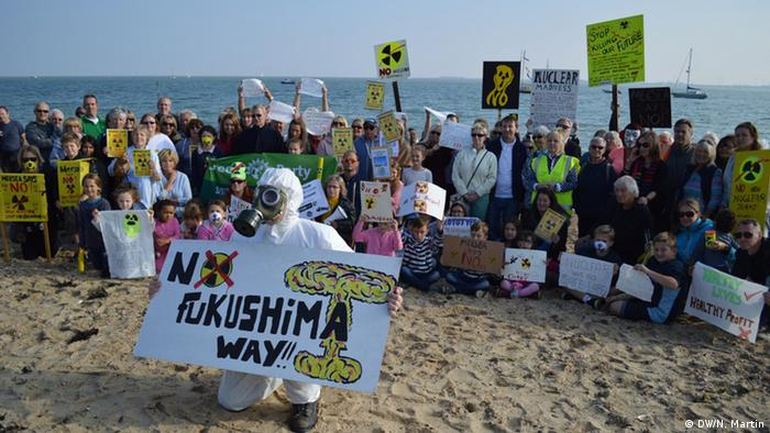 Protest agains new nuclear plant at Bradwell-on-Sea