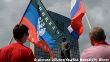 Ukraine Donezk Lenin Platz Separatisten
