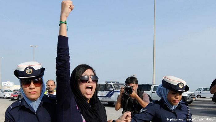 Zainab al-Khawaja was also arrested in February 2014 for 'insulting a public official'