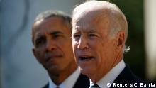 Vizepräsident Joe Biden verzichtet auf Kandidatur