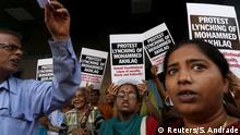 Indien Protest gegen den Lynchmord an Mohammed Akhlaq
