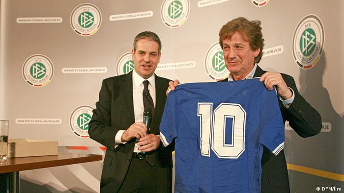 La camiseta que vistió Diego Armando Maradona en la final del Mundial de 1990 está en el Museo del Fútbol Alemán.