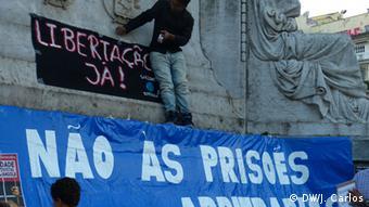 Protest in Lissabon für die Freilassung angolanischen Aktivisten