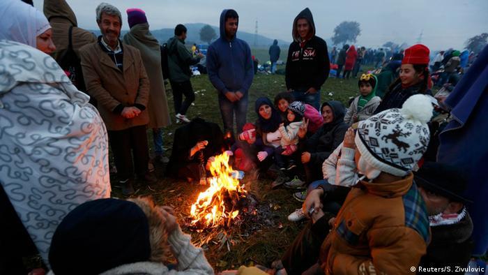 Slowenien Flüchtlinge bei Rigonce
