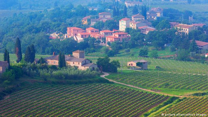 Europäische Weinanbaugebiete Italien Toskana