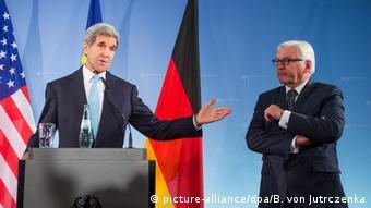 Berlin Bundesaußenminister Steinmeier und John Kerry