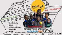 Flyer Refugee Radio Network Flüchtlinge Hamburg RRN