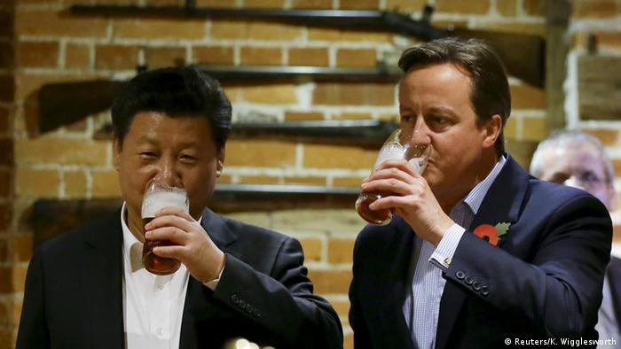 Großbritannien Staatsbesuch von Xi Jinping bei David Cameron