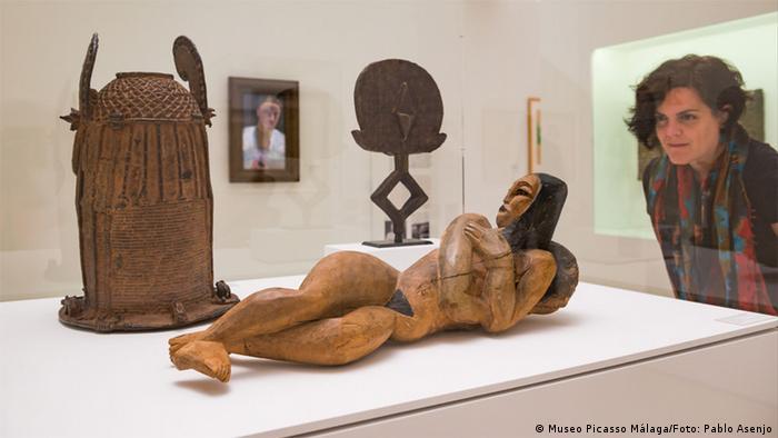 Spanien Ausstellung Picasso. Registros alemanes. in Malaga