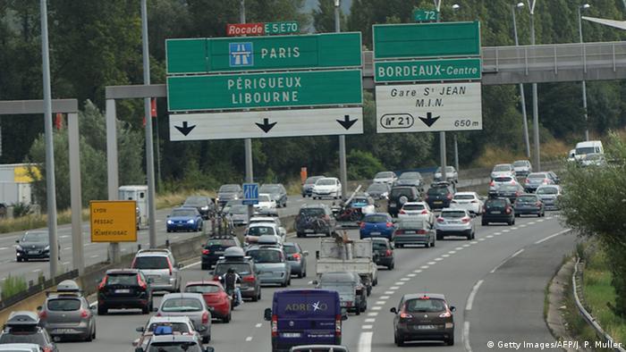Frankreich Autobahn Stau bei Bordeaux (Getty Images/AFP/J. P. Muller)