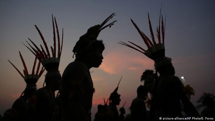 Jogos mundiais dos povos indígenas, em 2015, no Brasil