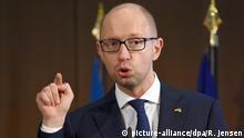 Deutschland Ukraine Jazenjuk Rede bei der Wirtschaftskonferenz in Berlin