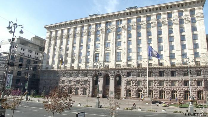 Ukraine Kommunalwahl Rathaus in Kiew