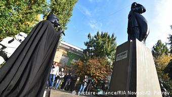 Ukraine Lenin-Statue in Odessa durch Darth Vader ersetzt