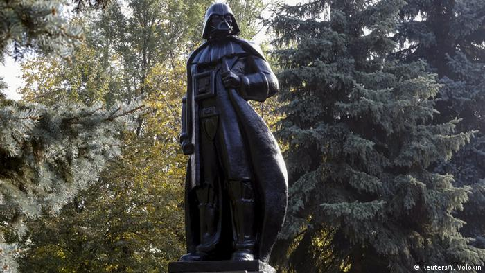 A monument to the character of Darth Vader from Star Wars, which was rebuilt from a statue of Soviet state founder Vladimir Lenin, is seen in Odessa, Ukraine, October 23, 2015 (Photo: REUTERS/Yevgeny Volokin)