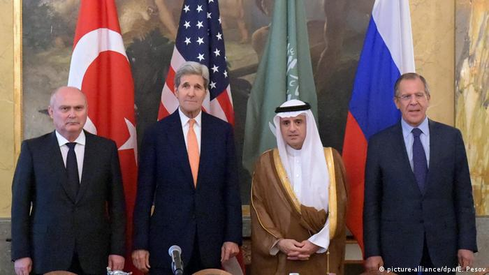 Vienna, Austria, Foreign Ministers Kerry, Lavrov, Sinirloglu and al-Jubeir