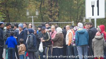 Deutschland Flüchtlinge Essensausgabe