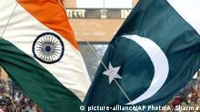 Flagge Pakistan und Indien