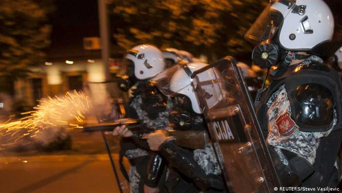 Police in Montenegro use tear gas against protesters