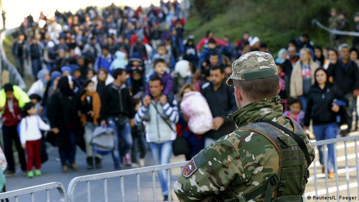 Slowenien Flüchtlinge bei Sentilj