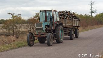 Landwirtschaft Dorf Myrne Ukraine (DW/I. Burdyga)