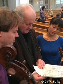 Wolfgang Rihm with Jan Vogler and Mira Wang