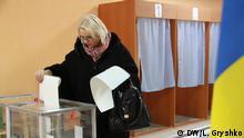25.10.2015 Kommunalwahlen, Kiew, Ukraine, Stimmabgabe Copyright: DW/L. Gryshko