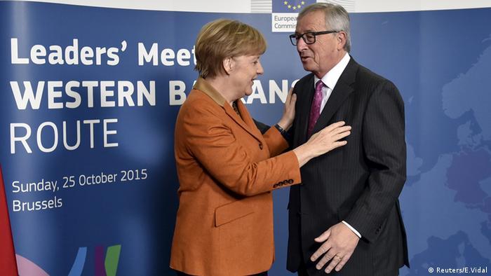 Brüssel Belgien Flüchtlingsgipfel Sondergipfel Angela Merkel Jean-Claude Juncker