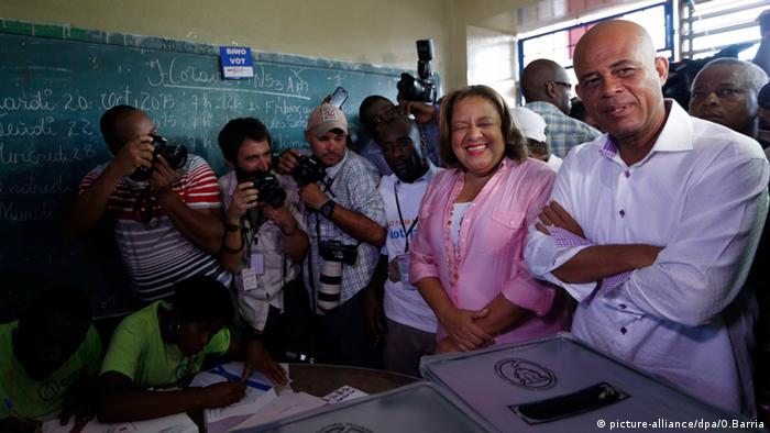 Michel Martelly in Port-Au-Prince