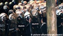 Montenegro Proteste gegen die Regierung