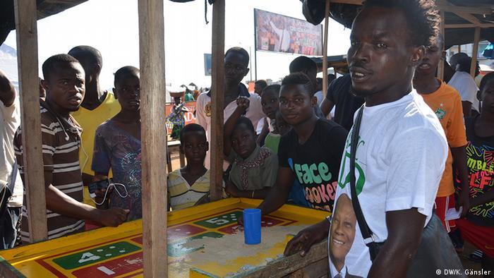 Young people in Abidjan