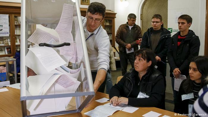 Подсчет голосов на Украине